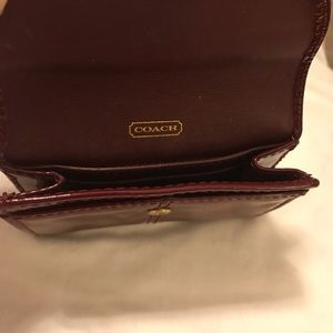 Coach Bags - Coach Scarlet Red Mini Patent Leather Wallet VGC